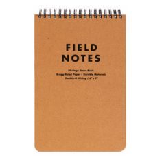 Field Notes A5 Steno Pad ($10) ❤ liked on Polyvore featuring home, home decor, stationery and fillers