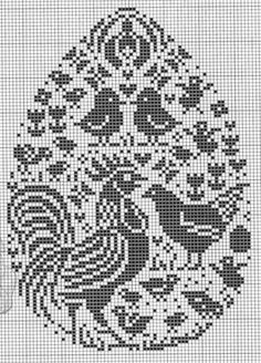 Birds chicken cross stitch.