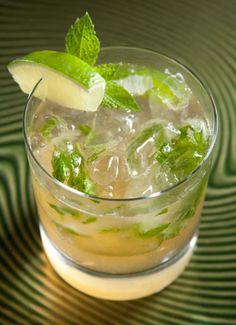 asian pear mojito 1 tbsp superfine sugar 3 lime sections 5 mint leaves 1 oz DeKuyper® Sour Apple Pucker schnapps 1.5 oz Bacardi® Limon rum 1 oz pineapple juice 1 splash club soda ice  Muddle (mash) the lime, sugar and mint leaves together. Add the Sour Apple Pucker (DeKuyper), Limon Rum (Bacardi), and Pineapple Juice. Shake with ice. Pour into a tall glass (highball) top off with the club soda.