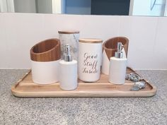A clever use of kitchen pieces in the bathroom. Kmart Australia style