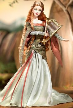 The Bard Barbie Doll - 2004 Legends of Ireland Collection - Barbie Collector 41d4f8c4a168