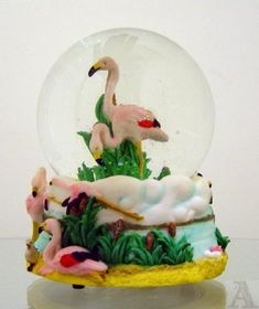 Amazon.com - Tropical Pink Flamingo Waterball Snowglobe - Snow Globes