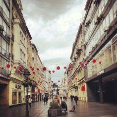 Knez Mihajlova in the city centre of Belgrade ♥
