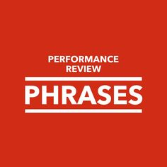 Performance appraisal time is often very stress filled. It seems like the deadlines are always looming, that human resources picks the worst possible time to have performance evaluations, and that you just can't seem to find the right words for each employee's performance review. Finding the right phrases to describe every employee in every performance …
