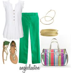"""""""Summer Day at Work"""" by angkclaxton on Polyvore"""