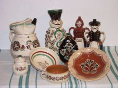 Potters Clay, Hungarian Embroidery, Central Europe, Eastern Europe, Folklore, Ceramic Pottery, Romania, 1, Hand Painted