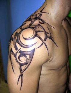 Upper Back Tattoos For Men | Upper Arm Graphic Design | Gallery of Tattoos & Ink Art Pictures