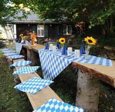 Bayerischer Abend im Hüttengarten - Bavarian dinner in the cottages garden - http://www.riessersee.com/
