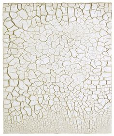 Alberto Burri - Bianco Cretto (1977),  acrovinyl on celotex 59.8 x 50 cm