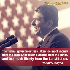 Ronald Reagan. He must be rolling over in his grave watching the embarrassment in the white house today.