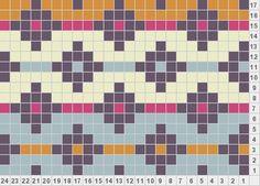 Diamonds And Stripes knitting motif