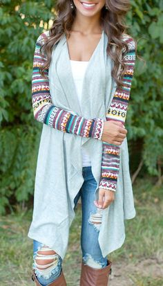 Nothing says fall like a stunning cardigan! There are four Size for your selection. Free shipping! Get it at OASAP!
