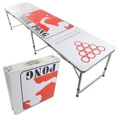 Folding / Portable Beer Pong Table! http://beerponglife.com/awesome-beer-pong-tables/