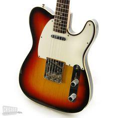 Fender Telecaster Bound Custom 3 Tone Sunburst RW 1968 - Chicago Music Exchange