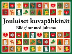 Jouluiset kuvapähkinät – aivojumppaa ryhmätoimintaan | RyhmäRenki Christmas Calendar, Christmas Games, Advent Calendar, Teacher Games, White Christmas, Xmas, Teaching Kindergarten, Activities, Holiday Decor