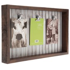 Corrugated Metal Clip Collage Wall Frame