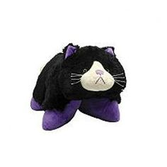 Purple Black Curious Cat Pillow Pets Pee Wees Snuggle up with Nutty Elephant every night! Pillow PetsTM Pee Wee are small, snugly-soft and sure to make every ki Cat Pillow, Pillow Pets, Pillow Fight, Can Cats Eat Ham, Cat Crying, Buy Pillows, Decor Pillows, Animal Backpacks