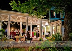Old house wedding patio | Patio at Matthews House in Cary,NC