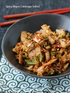 Spicy Korean Napa Cabbage Salad recipe (using Spicy Korean Chili Seasoning) by SeasonWithSpice.com