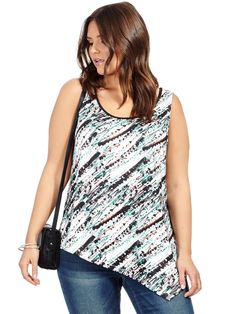 Jete | Abstract Printed Doni Tank Top | Gwynnie Bee