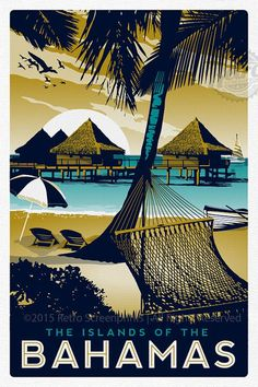 The Islands of the Bahamas ~ RetroScreenprints