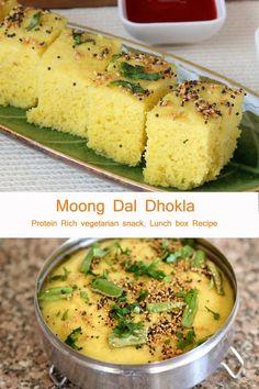 Indian Snacks, Indian Food Recipes, Asian Recipes, Vegetarian Breakfast Recipes, Healthy Indian Recipes Vegetarian, Healthy Meals, Healthy Recipes, Dhokla Recipe, Indian Breakfast