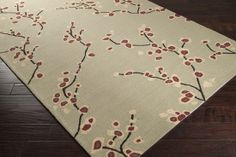 Shop for Hand-hooked Green Sunwapta Indoor/Outdoor Floral Rug x Get free delivery On EVERYTHING* Overstock - Your Online Home Decor Store! Dining Table Rug, Rectangle Area, Indoor Outdoor Rugs, Floral Rug, Online Home Decor Stores, Contemporary Furniture, Green Colors, Area Rugs, Weaving