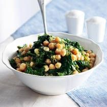 Chickpea & spinach salad