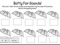 Batty for sounds and other batty freebies!!