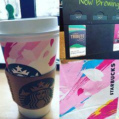 Pinを追加しました!/Today's coffee カップも紙袋も桜柄 #starbucks #出勤途中