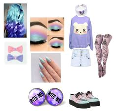 """""""My First Pastel Goth Template"""" by apocalyptickitty ❤ liked on Polyvore featuring Parisian, women's clothing, women's fashion, women, female, woman, misses and juniors"""