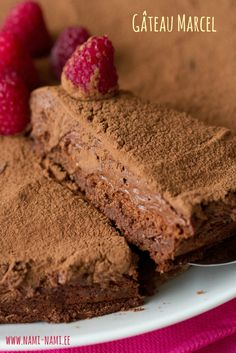 A decadent gluten-free chocolate mousse cake.