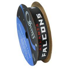 Atlanta Falcons ribbon 5/8 width [FALCONS-5/8 RIBBON], $6.75, NFL Fabric Store