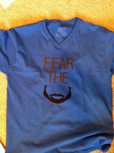 fear the beard tshirt oklahoma city OKC thunder by duvdesigns, $20.00