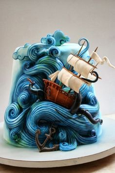 Awe-inspiring 'Long Journey' Cake by Vina Jafar for Threadcakes.