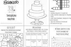 atrakcje dla dzieci wesele zadania do druku