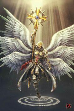 Archange Azraëlle—An Idea for a Celestial Fantasy Kunst, Dark Fantasy Art, Fantasy Character Design, Character Art, Archangel Tattoo, Angel Artwork, Warrior Angel, Ange Demon, Angel Pictures