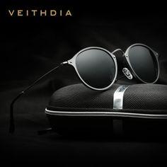 7ed55fee0b7 ตรวจสอบราคา VEITHDIA Brand Designer Fashion Unisex Sun Glasses Polarized  Coating Mirror Sunglasses Round Male Eyewear For Men Women 6358 Now