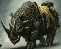 Image result for War Rhino fantasy