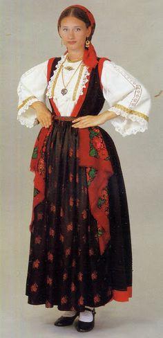 FolkCostume: Woman's costume of the central Dalmatian coast, Croatia