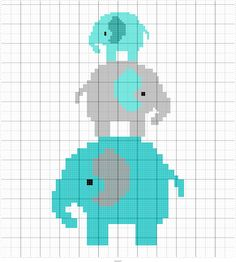 Thrilling Designing Your Own Cross Stitch Embroidery Patterns Ideas. Exhilarating Designing Your Own Cross Stitch Embroidery Patterns Ideas. Elephant Cross Stitch, Cross Stitch Baby, Cross Stitch Charts, Cross Stitch Embroidery, Embroidery Patterns, Crochet Elephant Pattern, Afghan Crochet Patterns, Crochet Chart, Crochet Cross
