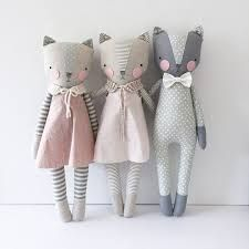 Coming up in the shop luckyjuju Sock Dolls, Fabric Toys, Cat Doll, Creation Couture, Sewing Dolls, Sewing Studio, Diy Toys, Baby Sewing, Handmade Toys