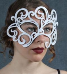 Swirly Leather Mask in White by TomBanwell on Etsy, $39.00