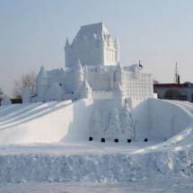Chateau Frontenac (2009) in Quebec City -- they have a snow sculpture festival there every Winter...  <3