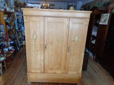 antique pine england knock down wardrobe closet armoire dismantles in 6 parts antique english pine armoire