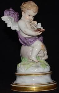 "Antique Meissen Figurine 7 1/4"" Sold for $940.00 Bidders 13"