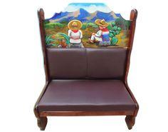 Booth Sentados en Cerrito.  Descripción: Diseño: Sentados en cerrito Color: Diseño Asiento: Vinil café