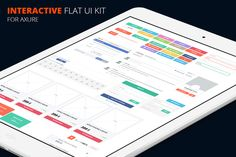 Axure flat UI kit-Discount by Marcoo on @creativemarket