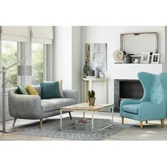 Get inspired by Modern Living Room Design photo by Wayfair Home. Wayfair lets you find the designer products in the photo and get ideas from thousands of other Modern Living Room Design photos. Living Room Sets, Living Room Designs, Living Room Furniture, Living Room Decor, Bedroom Decor, Sofa Design, Mid Century Modern Sofa, The Calling, White Rug
