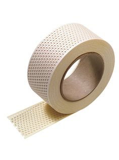 Strong, perforated paper for taping and patching drywall. No need for preplastering. Faster and easier to apply than conventional paper tape.